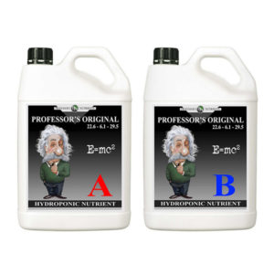 Two white bottles with handle in black packaging and twist cap. One is labeled A in red while the other is labeled B in blue.