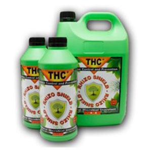 Three green bottles with orange packaging and black screw cap.