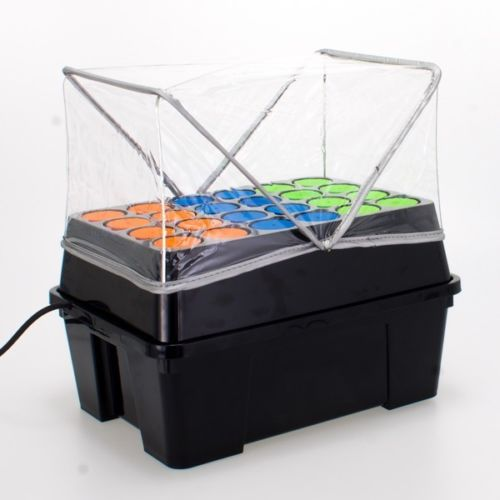 black box with orange blue and green lid