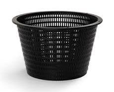 Black webbed basket.