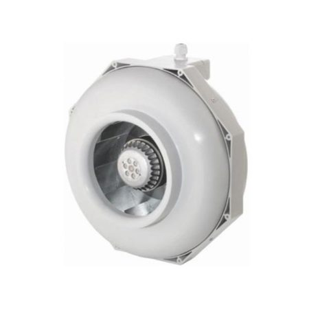 White circular fan with white blades.
