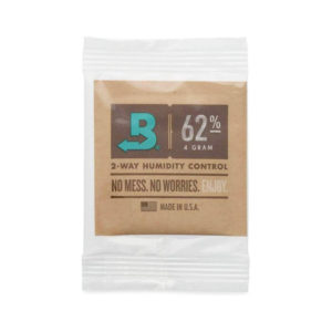 Boveda 62% Humidity Pack in plastic packaging.