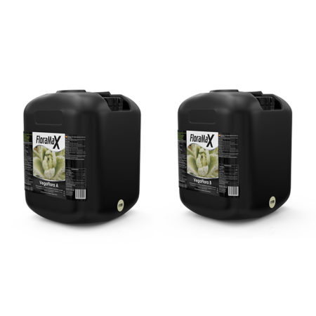 Two black drums with light green labeling.