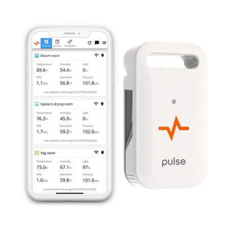 Pulse One monitor and display of its application interface on IOS phone.