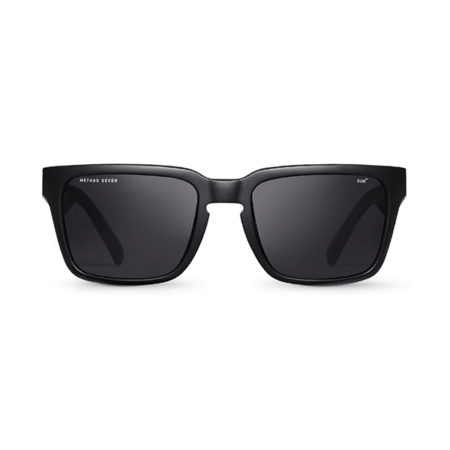 Front shot of Method Seven Evolution sunnies in matte black.