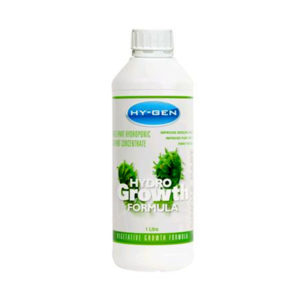 hydro growth formula in white bottle with cap