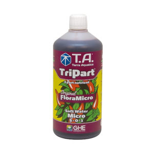TriPart Micro 1L in soft water formulation.
