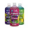 Terra Aquatica TriPart series: Micro, Grow, and Bloom in 1 litre bottles.