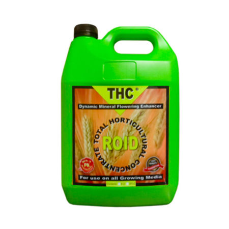 thc roid in a green bottle with black cap