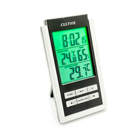thermo hygrometer with green display