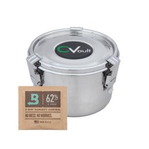 Medium CVault with Boveda Humidity Pack 8g 62% RH.