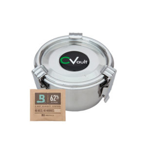 Small CVault and Boveda Humidity Pack 8g 62% RH.