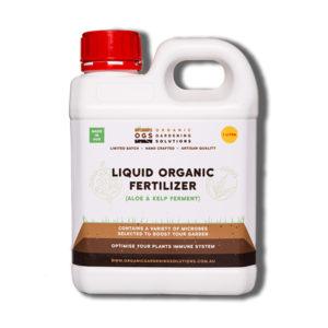 OGS Liquid Organic Fertiliser with Aloe and Kelp Ferment in 1 litre bottle