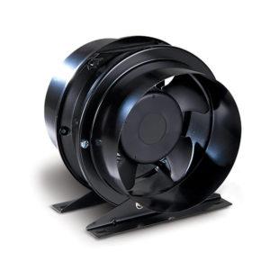 Allvent A80 Inline Fan 200 in black metal casing